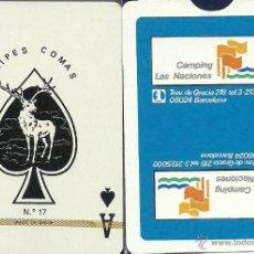 Barajas de cartas: CAMPING LAS NACIONES - BARAJA DE POKER. Lote 49192743