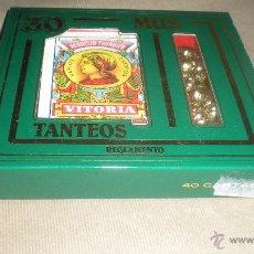 Barajas de cartas: CARTAS DE MUS 30 TANTEOS Y REGLAMENTO. Lote 49196338