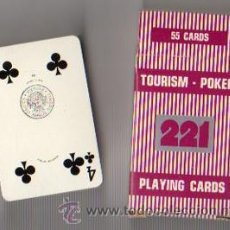 Barajas de cartas: TOURISM - POKER 221. PLAYING CARDS. 55 CARTAS. HERACLIO FOURNIER. Lote 49247437