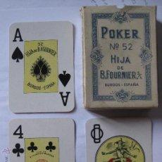 Barajas de cartas: NAIPES FOURNIER Nº52 - POKER - COMPLETA, USADA, CON CAJA. Lote 49290553