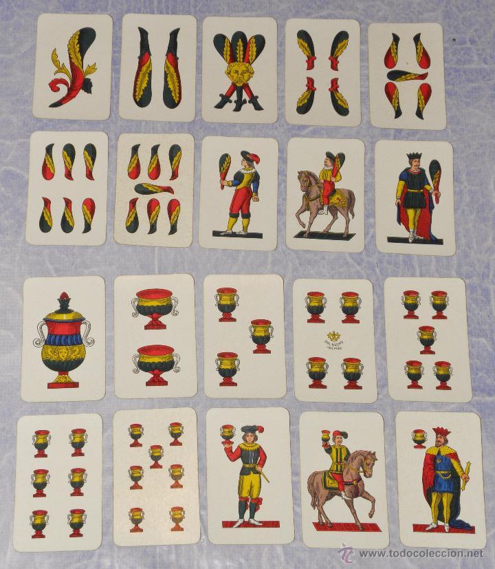 Barajas de cartas: CARTAS CARTES ITALIA DAL NEGRO TREVISO PLASTIFICATE NAPOLITANE 1964 - Foto 3 - 49294628