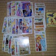 Barajas de cartas: JUEGO DE CARTAS INFANTIL FESTIVAL DE WALT DSNEY BARAJA DE 1966 , FOURNIER ( VITORIA). Lote 49384433