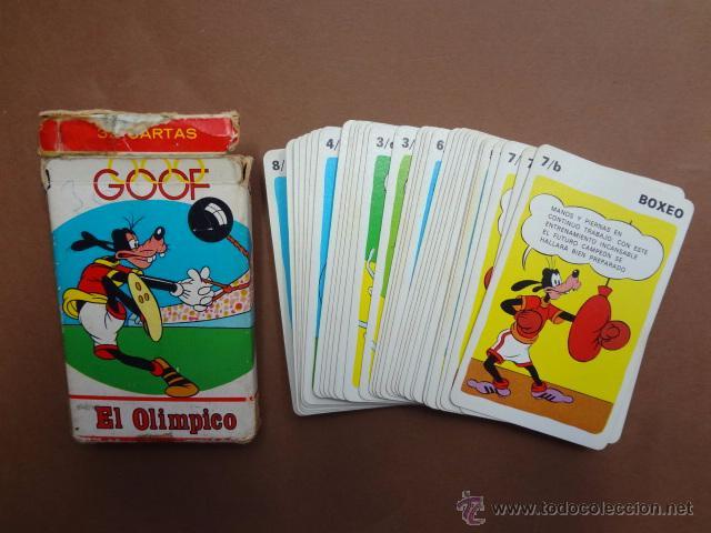 ANTIGUA BARAJA INFANTIL DE FOURNIER. GOOF EL OLÍMPICO - CAR81 (Juguetes y Juegos - Cartas y Naipes - Barajas Infantiles)