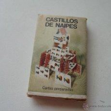 Barajas de cartas: CASTILLOS DE NAIPES-CARTAS PREPARADAS-JUEGO INFANTIL-NAIPES : COMAS.. Lote 49405296