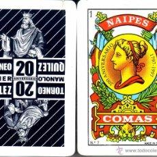 Barajas de cartas: TORNEO QUILEZ 20 ANIVERSARIO - BARAJA ESPAÑOLA 40 CARTAS. Lote 272352428