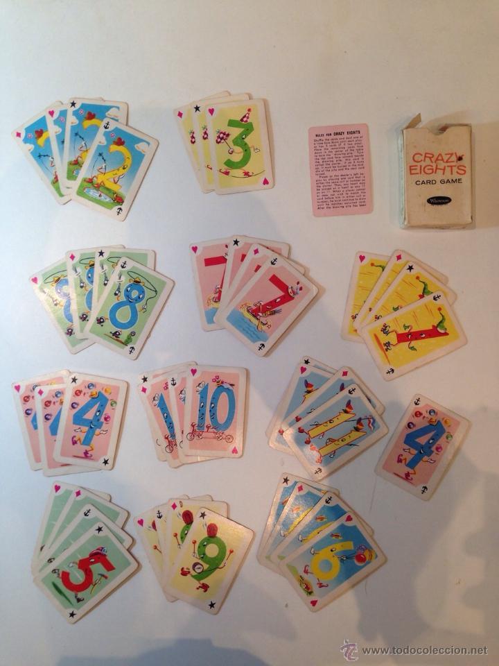 BARAJITA DE CARTAS MARCA WHITMAN CRAZYEIGHTS AMERICANA (Juguetes y Juegos - Cartas y Naipes - Otras Barajas)