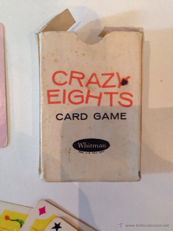 Barajas de cartas: BARAJITA DE CARTAS MARCA WHITMAN CRAZYEIGHTS AMERICANA - Foto 2 - 49448346
