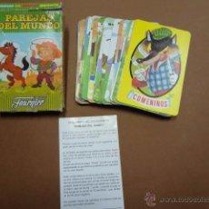 Barajas de cartas: BARAJA INFANTIL - PAREJAS DEL MUNDO -. HERACLIO FOURNIER - PB3. Lote 49470043