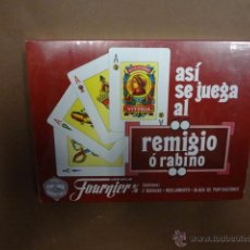 Barajas de cartas: ASI SE JUEGA AL REMIGIO O RABINO - BARAJA HERACLIO FOURNIER VICTORIA - PRECINTADA - PB4. Lote 49519676
