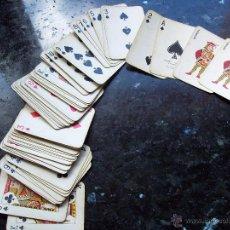 Barajas de cartas: BARAJA O NAIPES DE POKER EN MINIATURA DE HERACLIO FOURNIER EN VITORIA. COMPLETA. Lote 49523200