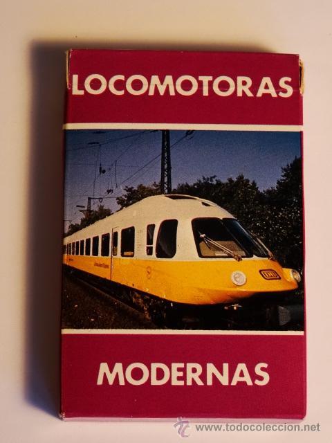 HERACLIO FOURNIER LOCOMOTORAS MODERNAS 33 CARTAS AÑO 1986 NUEVA (Juguetes y Juegos - Cartas y Naipes - Baraja Española)