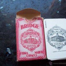 Barajas de cartas: ANTIGUA BARAJA DE BRIDGE DE HERACLIO FOURNIER. COMPLETA. Lote 49541106