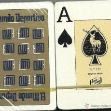 Barajas de cartas: EL MUNDO DEPORTIVO - BARAJA DE POKER. Lote 49576666