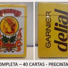 Barajas de cartas: BARAJA ESPAÑOLA / DORSO GARNIER-DELIAL. COMPLETA CAJA ORIGINAL PRECINTADA. Lote 49693376