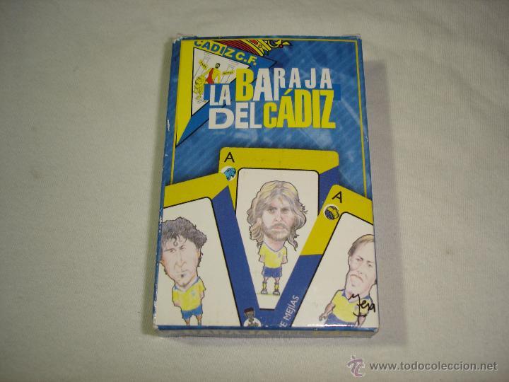 BARAJA CARTAS, NAIPES COMAS - LA BARAJA DEL CADIZ CLUB DE FUTBOL - 40 NAIPES (Juguetes y Juegos - Cartas y Naipes - Baraja Española)