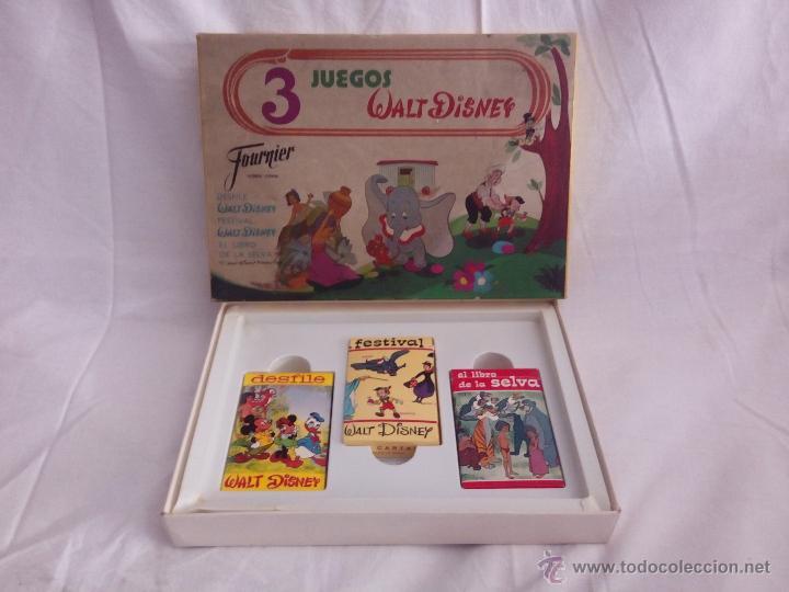 3 JUEGOS WALT DISNEY (HERACLIO FOURNIER) (Juguetes y Juegos - Cartas y Naipes - Barajas Infantiles)