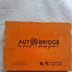 Barajas de cartas: AUTO BRIDGE,, ANO 1959. Lote 50063390