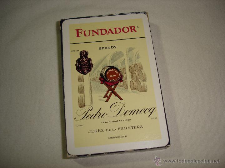 BARAJA CARTAS, HERACLIO FOURNIER - BRANDY FUNDADOR. 40 NAIPES. (Juguetes y Juegos - Cartas y Naipes - Baraja Española)