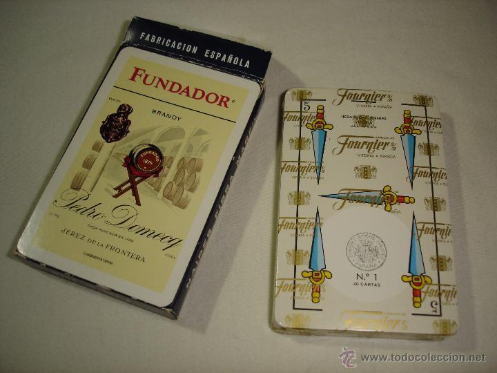 Barajas de cartas: BARAJA CARTAS, HERACLIO FOURNIER - BRANDY FUNDADOR. 40 NAIPES. - Foto 3 - 50208377