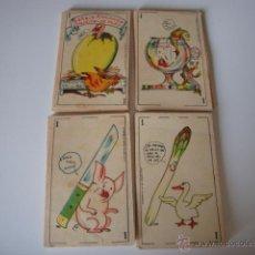 Barajas de cartas: BARAJA ZOOLOGICA MURO COMPLETA 40 NAIPES PUBLI. CHOCOLATES SAN JORGE VILLAJOYOSA ANTIGUA, ORIGINAL. Lote 50261187