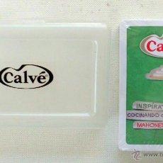 Barajas de cartas: BARAJA PUBLICIDAD CALVE MAHONESA PRECINTADAS Y CON ESTUCHE . Lote 50269007