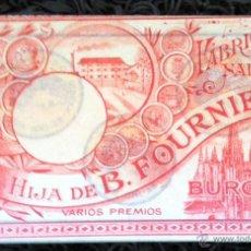 Barajas de cartas: BARAJA ESPAÑOLA MARFIL 1ª BURGOS JUEGO DEL GOLFO HIJA DE B. FOURNIER SL ROJA *NUMISBUR*. Lote 138026700