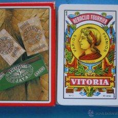 Barajas de cartas: BARAJA DE CARTAS ESPAÑOLA. FOURNIER. PUROS CIGARROS ENTREFINOS JAVA. Lote 50454203