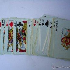 Barajas de cartas: BARAJA DE CARTAS FRANCESAS, EL GALLO, POKER 55 NAIPES EL DORSO GALLO VERDE.. Lote 50485830