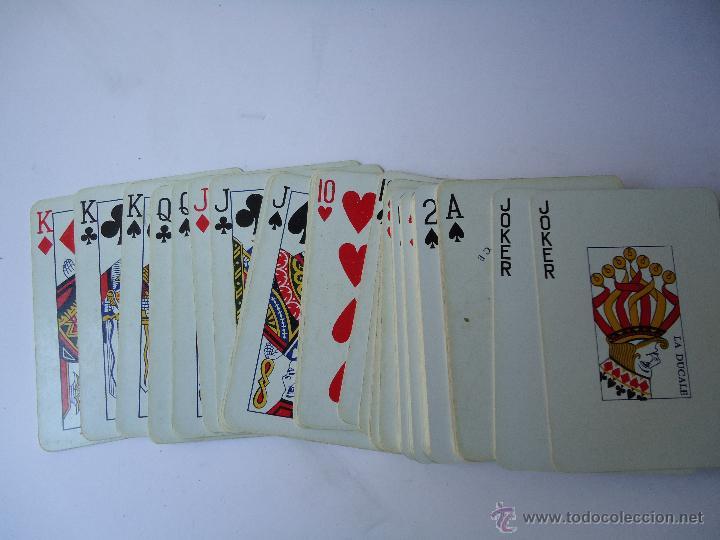 BARAJA DE CARTAS FRANCESA, EL GALLO, 55,NAIPES.DE POKER, EL DORSO EL GALLO AZUL. VER DATOS (Juguetes y Juegos - Cartas y Naipes - Barajas de Póker)