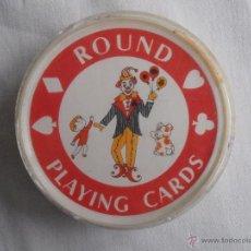 Barajas de cartas: BARAJA DE CARTAS POKER ROUND PLAYING CARDS CARTAS REDONDAS. Lote 50559116