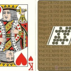 Barajas de cartas: BINGO CIUTAT DE BARCELONA - BARAJA DE POKER. Lote 50743342