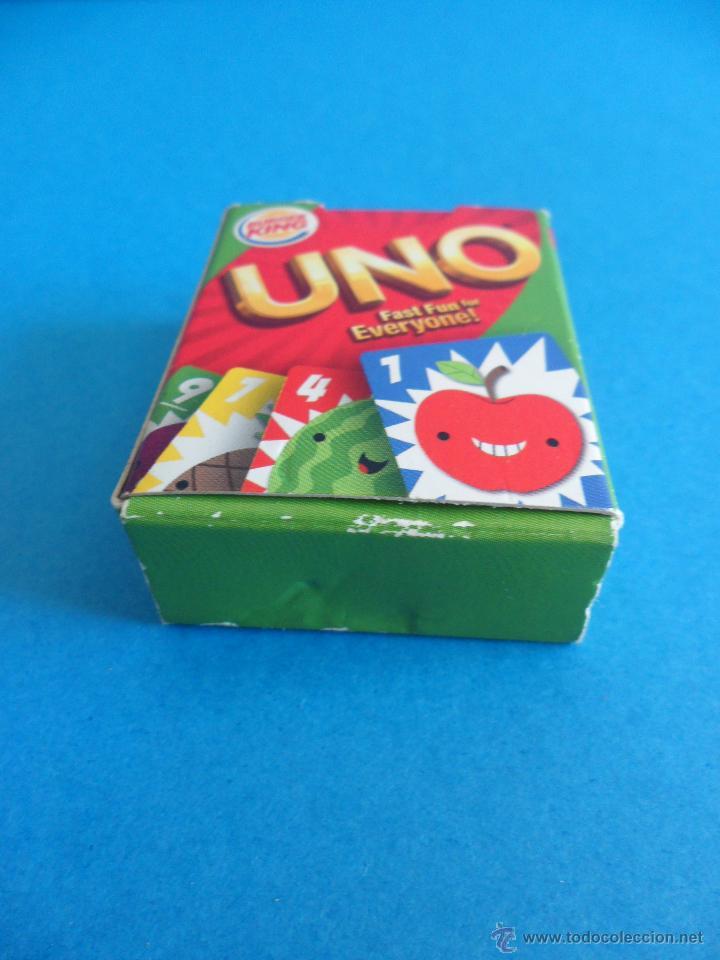 Barajas de cartas: Juego de cartas UNO Burger King - Frutas - 2015 Mattel - Foto 3 - 57439061