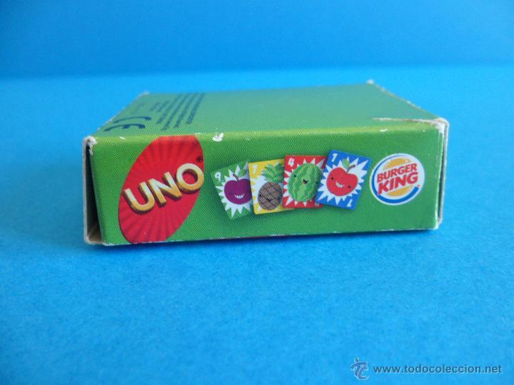 Barajas de cartas: Juego de cartas UNO Burger King - Frutas - 2015 Mattel - Foto 4 - 57439061