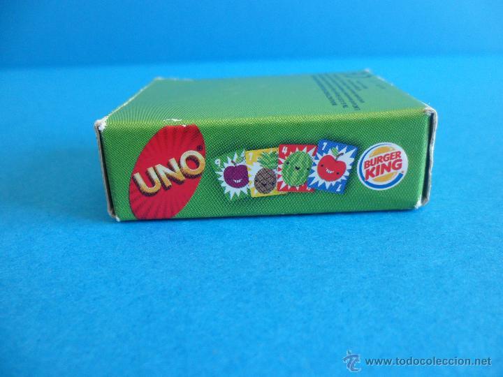 Barajas de cartas: Juego de cartas UNO Burger King - Frutas - 2015 Mattel - Foto 5 - 57439061