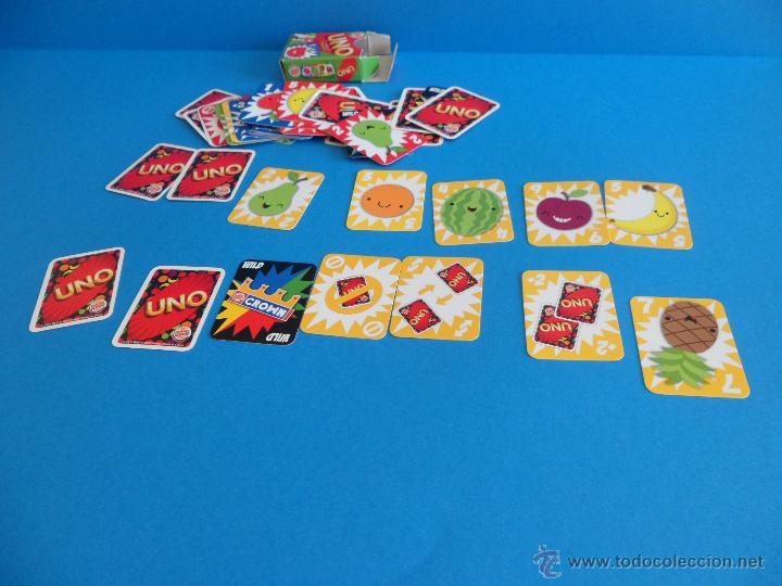 Barajas de cartas: Juego de cartas UNO Burger King - Frutas - 2015 Mattel - Foto 7 - 57439061