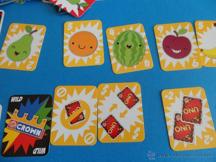 Barajas de cartas: Juego de cartas UNO Burger King - Frutas - 2015 Mattel - Foto 8 - 57439061