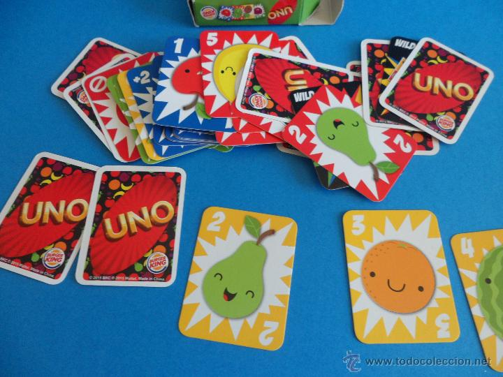 Barajas de cartas: Juego de cartas UNO Burger King - Frutas - 2015 Mattel - Foto 9 - 57439061