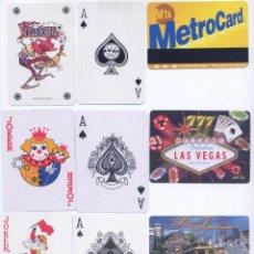 Barajas de cartas: 3 BARAJAS POKER DE METRO NEW YORK; LAS VEGAS; SAN FRANCISCO. Lote 51077338