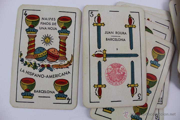 Barajas de cartas: CA-5 NAIPES FINOS DE UNA SOLA HOJA. JUAN ROURA. BARAJA COMPLETA 48 CARTAS - Foto 4 - 51155058