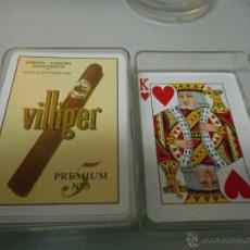 Barajas de cartas: BARAJA CARTAS TABACO PUROS VILLIGER NUEVAS. Lote 51158586