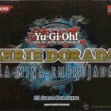 Barajas de cartas: YU-GI-OH! BARAJA SERIE DORADA LA MINA EMBRUJADA BOX20. Lote 207919268