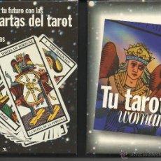 Barajas de cartas: CARTAS DEL TAROT EN CAJA Y CON LIBRO. Lote 51480589