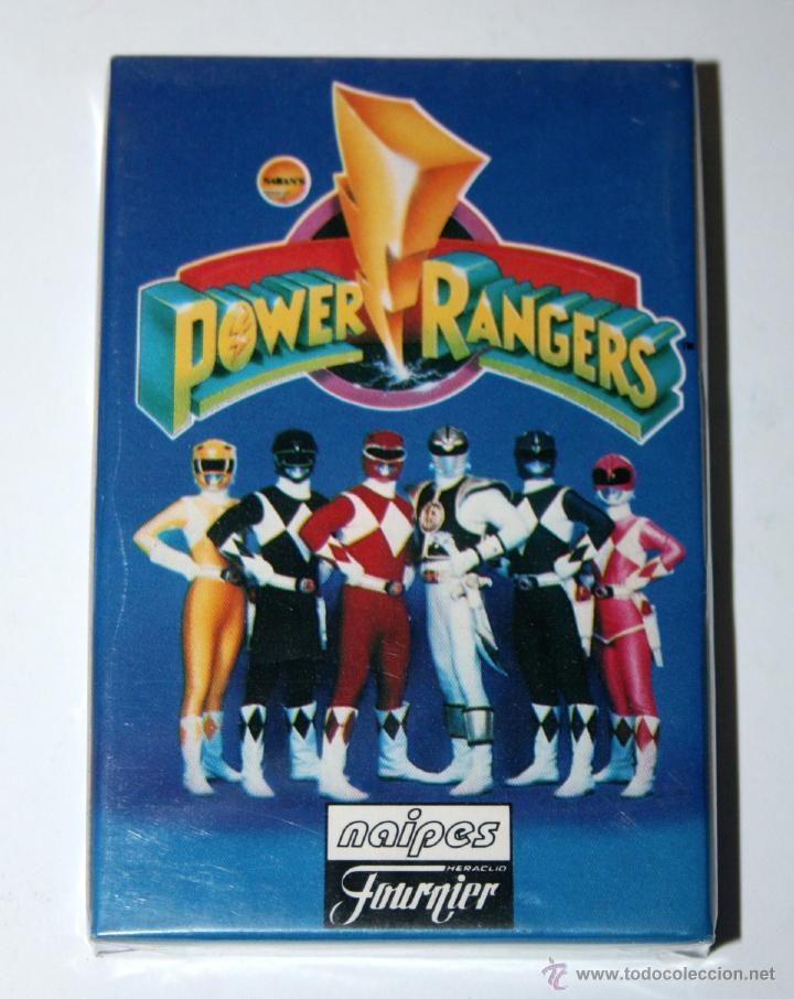BARAJA DE CARTAS FOURNIER POWER RANGER AÑO 1995 NUEVA Y SELLADA BANDAI RANGERS (Juguetes y Juegos - Cartas y Naipes - Barajas Infantiles)