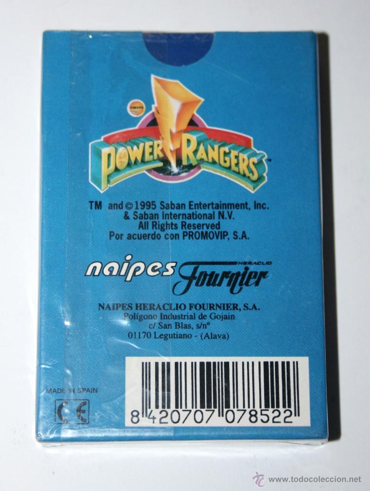 Barajas de cartas: BARAJA DE CARTAS FOURNIER POWER RANGER AÑO 1995 NUEVA Y SELLADA bandai rangers - Foto 2 - 51354177