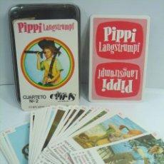 Barajas de cartas: BARAJA CARTAS INFANTIL - PIPI LANGSTRUMPF CUARTETO Nº2 - NAIPES COMAS-SPAIN AÑO 1975 ¡¡¡COMPLETA ¡¡¡. Lote 51360480