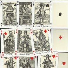 Barajas de cartas: RARA BARAJA FRANCESA DE GRABADOS DE DISFRACES DEL SIGLO XVII. Lote 51416195