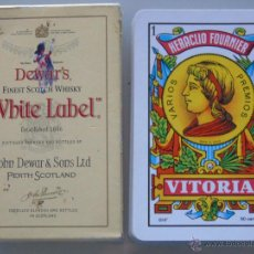Barajas de cartas: BARAJA DE CARTAS ESPAÑOLA. FOURNIER. DEWARS FINEST SCOTCH WHISKY WHITE LABEL.. Lote 51448372