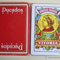 Barajas de cartas: BARAJA DE CARTAS ESPAÑOLA. FOURNIER. TABACO DUCADOS RUBIO. Lote 51513773