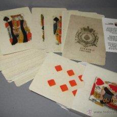 Barajas de cartas: BARAJA DE NAIPES COLECCIÓN FOURNIER - BARAJA PIQUET ISLAS BRITANICAS SIGLO XVIII 1780 DEL AÑO 2004. Lote 51655653
