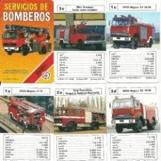 Jeux de cartes: SERVICIO DE BOMBEROS. Lote 51739431